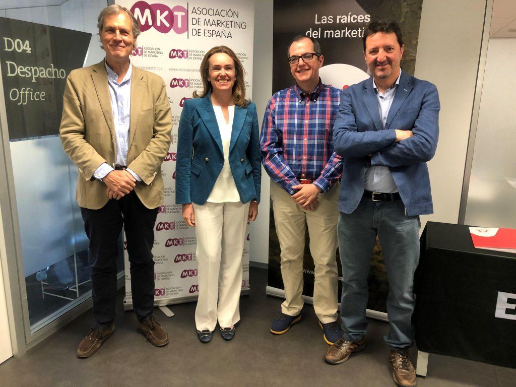 Presentación I Estudio de Marketing Relacional (de izqda a derecha_Ignacio Pi, María Sánchez del Corral, Antonio Tena y Juan Castañón)